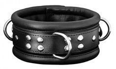 XXdreamSToys Leder-Halsfessel breit in schwarz