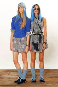 Marc by Marc Jacobs Resort 2013, loving the gray dress to the right.