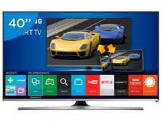 "Smart TV Gamer LED 40"" Samsung UN40J5500 - Full HD Conversor Integrado 3 HDMI 2 USB Wi-Fi"