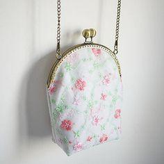 15 Embroidery Fresh Flower Lace Chain Mouth Gold Metal Frame Bag Mobile Phone Card Key Women's Handbag Messenger Bag Crossbody