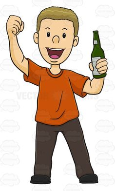 Male Excited While Holding A Beer #action #addict #alcohol #amusement #athletics #beer #buff #devotee #fan #fanatic #follower #game #games #groupie #hound #male #man #pastime #play #rooter #sports #sportsfan #support #supporter