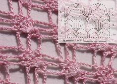 Uno schema di punti per uncinetto realizzare una stola o una sciarpa. Nel post trovi le istruzioni e lo schema gratuito.