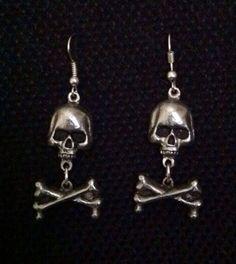 Skull & X Bones Earrings by SubversiveConstructs on Etsy