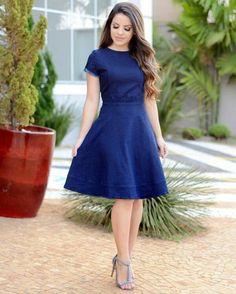 Vestidos Woman Dresses woman within maxi dresses Skirt Outfits, Dress Skirt, Dress Up, Navy Dress, Pretty Dresses, Beautiful Dresses, Modest Fashion, Fashion Dresses, Casual Dresses