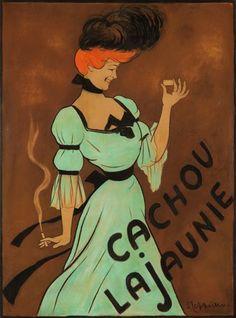 Cachou Lajaunie: Maquette by Leonetto Cappiello (1900)