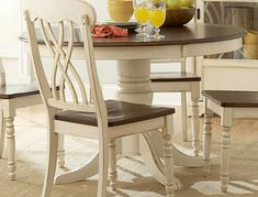 Weekend project - refinishing my round dining table to look like this...