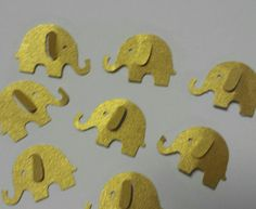 Metallic gold or silver double sided elephant table decor confetti wedding, baby shower, bridal or birthday party table decor
