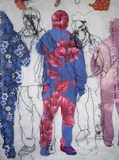 Mr X Stitch Presents: The Cutting (& Stitching) Edge – Rosie James Art Inspo, Rosie James, Vaporwave, Contemporary Embroidery, Embroidery Art, Embroidery Fashion, Machine Embroidery, A Level Art, Gcse Art