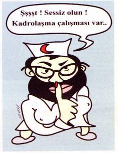Ankara Tabip Odası yayını Hekim Postası için çizmiştim. 2007 yılı olabilir