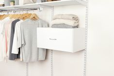 Add decorative drawer space to your Rubbermaid® FastTrack™ Closet.