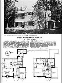 Art Deco House Plans Art Deco Resource Blue Prints From The Past Pinte