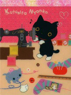 Google Afbeeldingen resultaat voor http://kawaii.kawaii.at/img/kawaii-Kutusita-Nyanko-mini-Memo-Pad-cats-sewing-160545-1.jpg