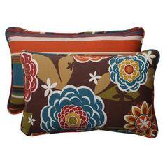 "Pillow Perfect Annie Westport Reversible Indoor/Outdoor Lumbar Pillow Size: 5"" H x 16.5"" W x 24.5"" D"