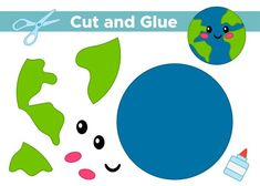 Earth Craft, Earth Day Crafts, Fun Activities For Toddlers, Infant Activities, Paper Crafts For Kids, Preschool Activities, Geography For Kids, Vip Kid, Animal Worksheets