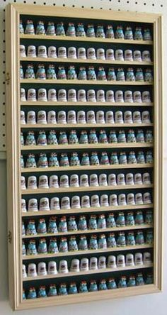 Large Thimble Display Holder Case Cabinet by DawnsVintageDecor ...