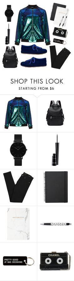 """Bomber jacket"" by wtfgigiz on Polyvore featuring Manon Baptiste, CLUSE, MAC Cosmetics, Yves Saint Laurent e Various Projects"