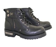 Xelement Women's Zipper Righteous Motorcycle Boot