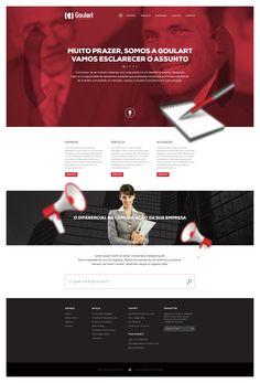 Site para a empresa Goulart Comunicação.