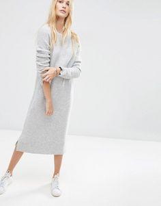 fcbdcff4cac8 Achetez ASOS - Robe pull mi-longue en laine mélangée sur ASOS. Découvrez la  mode en ligne.