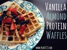 so simple Vanilla Almond Protein Waffles