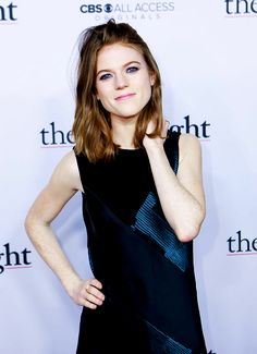Rose Leslie at 'The Good Fight' World Premiere Red Carpet (February 2017)