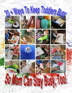 Keeping Toddlers Busy during homeschool can be hard. Here are some great ways to do that!