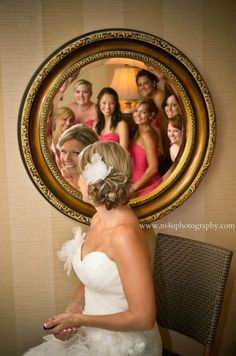 same bride, with her beautiful bridal party! makeup application & upstyles by myself & the rest of our staff at Lisa's Place Salon! (photo credit to N I 4 U photography)