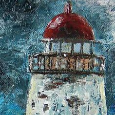 Never more at night Will it's beam of light Powerful and bright Sweep the sea. Back Painting, Knife Painting, Palette Knife, Acrylic Paintings, Impressionist, Be Still, Bright, Oil, Canvas