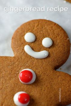 Gingerbread Cookies Recipe ~ this gingerbread will become a favorite with a few special additions... Makes 36 gingerbread cookies