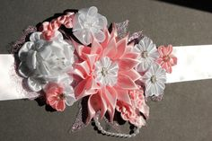 Thanks Kristi Kanzashi Maternity sash for by YourUniqueCreations