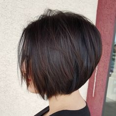 """25 Likes, 1 Comments - Brittany England (@brittanyenglandhair) on Instagram: """"#bob#concave#hair#shorthair#brown#color#cute#rusk#scissors#dowork#skills#brittanyenglandhair"""""""