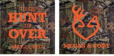 the+hunt+is+over+wedding+koozies | RESERVED Listing for Stacy -Hunt is Over, Mossy Oak Wedding Koozies