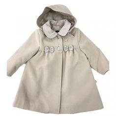 e6ca4c45f Comprar Abrigo de bebe ANAVIG de paño en beig capota desmontable