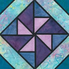 Stained Glass Gander Crossing Quilt Block Pattern