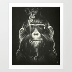 Smoke 'Em If You Got 'Em Art Print by Dr. Lukas Brezak - $20.00 I'm hanging this in my bathroom in an elaborate gold frame. Oh yes I am.