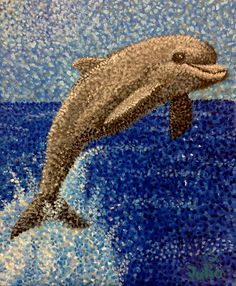 Georges Seurat (1859-1891); painting of a dolphin, typical of his art style. Description from naturalismavrotor.blogspot.com. I searched for this on bing.com/images