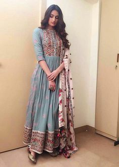 indian fashion Anarkali -- CLICK Visit link to see Dress Indian Style, Indian Dresses, Indian Attire, Indian Ethnic Wear, Pakistani Outfits, Indian Outfits, Pakistani Fashion Casual, Indian Clothes, Indian Designer Outfits