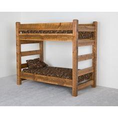 Viking Log Furniture Barnwood Bunk Bed $1,155.00