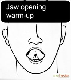 5 TMJ exercises in 5 weeks to jaw pain relief - Be My Healer Jaw Pain, Neck Pain, Jaw Exercises Tmj, Stretches, Tmj Massage, Sore Jaw, Jaw Clenching, Trigger Point Therapy, Workout Warm Up