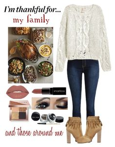 """I'm Thankful for... :"" by haybeebaby on Polyvore featuring Aquazzura, Smashbox, Bobbi Brown Cosmetics and imthankfulfor"