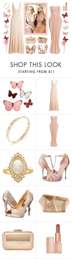 """Get The Look: Dakota and Elle Fanning"" by cherrycokegrunge ❤ liked on Polyvore featuring H&M, Rochas, Cartier, NLY Eve, Effy Jewelry, Alexander McQueen, Badgley Mischka, Rafe, Dune and Illamasqua"