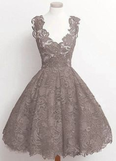 On Sale Colorful Vintage Prom Dresses Vintage 2018 Scoop Red Lace Knee-Length Homecoming Dresses Prom Gowns Pretty Dresses, Sexy Dresses, Beautiful Dresses, Short Dresses, Formal Dresses, Cheap Dresses, Dresses 2016, Skater Dresses, Women's Dresses