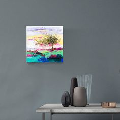 Tree painting 8 Original painting on canvas Oil by CalinaLefter