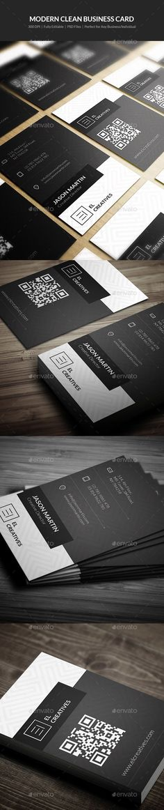 Modern Clean Business Card - 09 - Corporate Business Cards