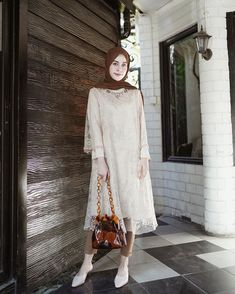My lovely kondangan outfit from , swipe left for details 😍✨ Kebaya Muslim, Kebaya Hijab, Model Kebaya Brokat Modern, Kebaya Modern Hijab, Kebaya Lace, Kebaya Dress, Outfits Casual, Casual Hijab Outfit, Ootd Hijab