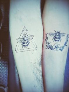 Bee tattoos Bee Tattoo, Tatting, Ink, Flowers, Bobbin Lace, India Ink, Needle Tatting, Honey Bee Tattoo