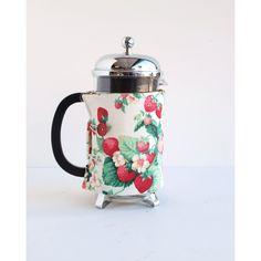 The Original French Press Coffee Cozy - Strawberries Style -. $21.00, via Etsy.