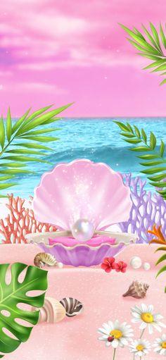 Beach Wallpaper, Iphone Wallpaper, Wallpapers, Pearls, Crystals, Flowers, Beads, Wallpaper, Crystal