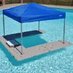 Floating mini bar...just awesome!  I wonder if the apt mngr will mind this in the pool lol