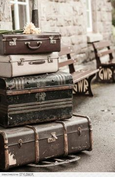 travel vintage suitcases